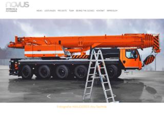 novus-agentur.de screenshot
