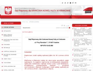 nowahuta.sr.gov.pl screenshot