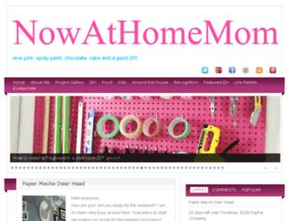 nowathomemom.com screenshot