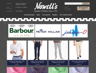 nowellsclothiers.com screenshot