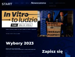 nowoczesna.org screenshot