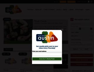 nowplayingaustin.com screenshot