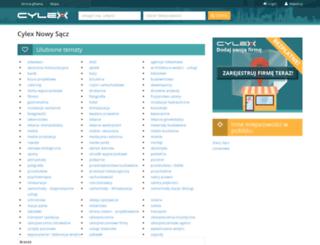 nowy-sacz.cylex.pl screenshot