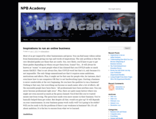 npbacademy.wordpress.com screenshot