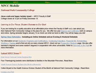 npcc.edu screenshot