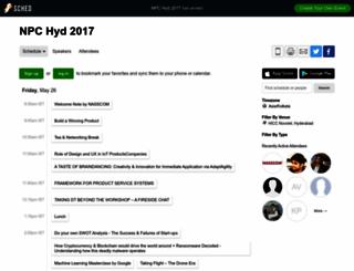 npchyd2017.sched.com screenshot