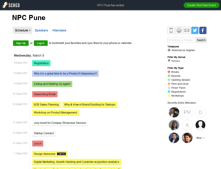 npcpune2014.sched.org screenshot