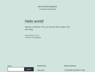 npkentertainment.com screenshot