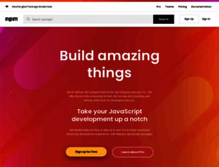 npmjs.org screenshot