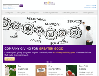 npo.justgive.org screenshot