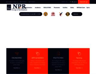 nprcolleges.org screenshot