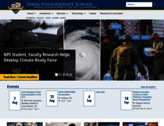 nps.edu screenshot
