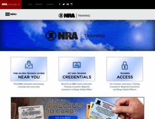 nrainstructors.org screenshot