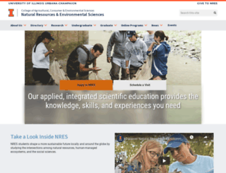 nres.uiuc.edu screenshot