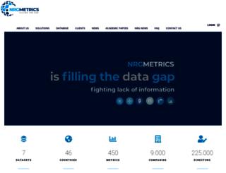 nrgmetrics.com screenshot