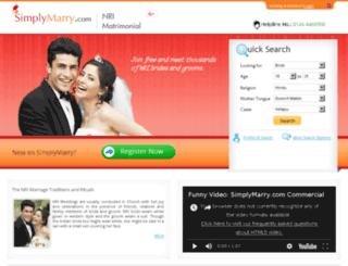 nri-matrimonial.simplymarry.com screenshot