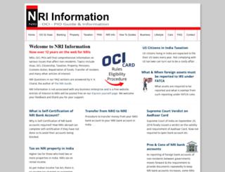 nriinformation.com screenshot
