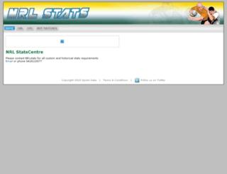 nrlstats.com screenshot