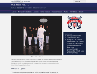 nrotc.olemiss.edu screenshot