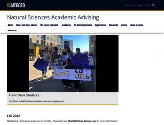 ns-advising.ucmerced.edu screenshot