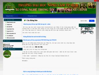 ns.hcmuaf.edu.vn screenshot