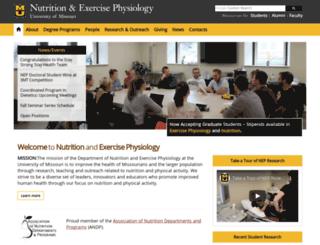ns.missouri.edu screenshot