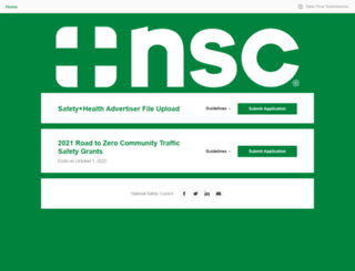 nsc.submittable.com screenshot