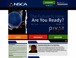 nsca.org screenshot