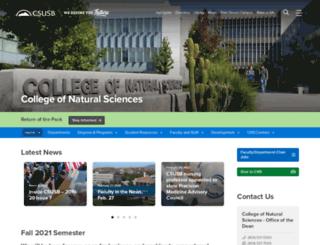 nsci.csusb.edu screenshot