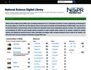 nsdl.niscair.res.in screenshot