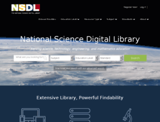 nsdl.org screenshot