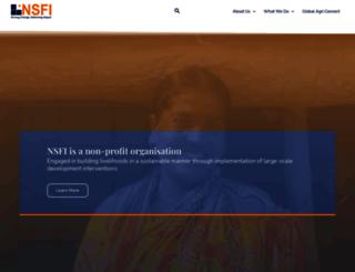 nsfindia.org screenshot