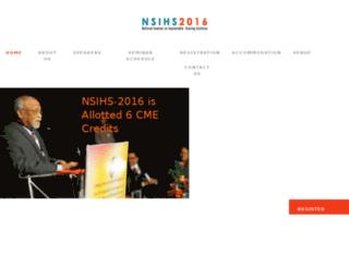 nsihs2016.in screenshot
