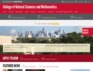 nsm.uh.edu screenshot