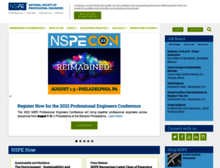 nspe.org screenshot