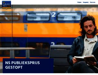 nspublieksprijs.nl screenshot