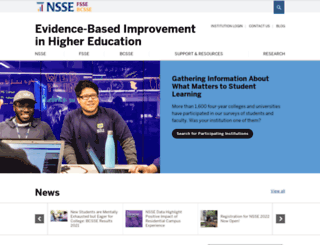 nsse.indiana.edu screenshot