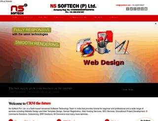 nssoftech.com screenshot