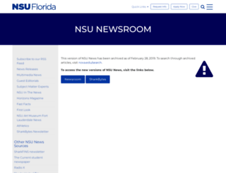 nsunews.nova.edu screenshot