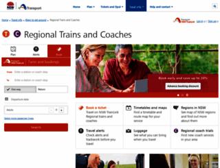 nswtrainlink.info screenshot