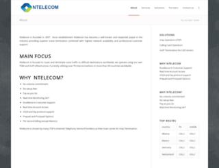 ntelecom.net screenshot