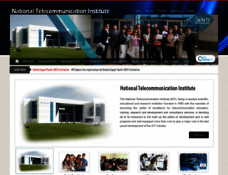 nti.sci.eg screenshot