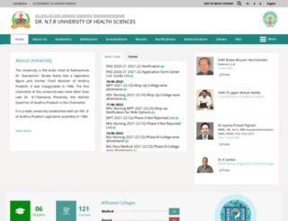 ntruhs.ap.nic.in screenshot
