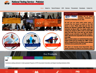 nts.org.pk screenshot