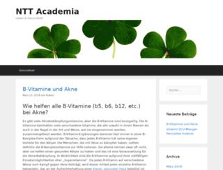 ntt-academia.org screenshot