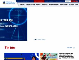 ntt.edu.vn screenshot
