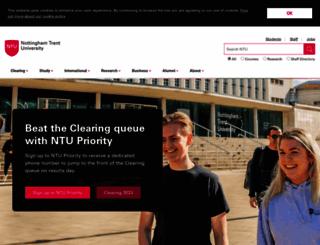 ntu.ac.uk screenshot