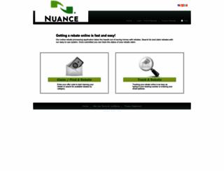 nuance.4myrebate.com screenshot