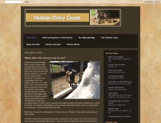 nubiandairygoats.blogspot.com screenshot