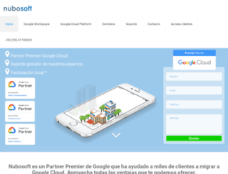 nubosoft.com.mx screenshot